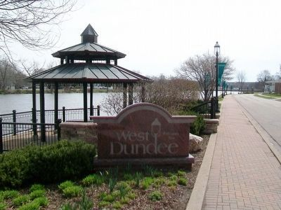 West Dundee Riverwalk and Banners image. Click for full size.