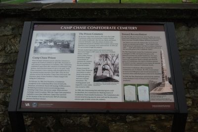 Camp Chase Confederate Cemetery Marker image. Click for full size.