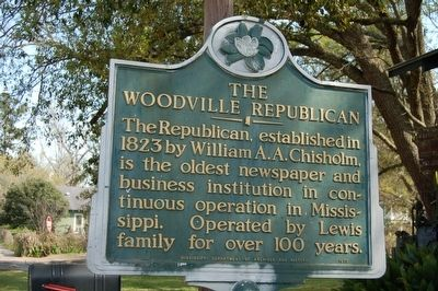 The Woodville Republican Marker image. Click for full size.