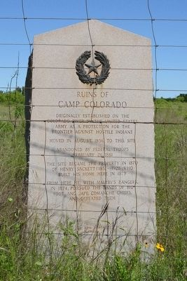 Ruins of Camp Colorado Marker image. Click for full size.