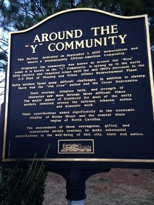 "Around the ""Y"" Community Marker image. Click for full size."