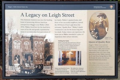 A Legacy on Leigh Street Marker image. Click for full size.