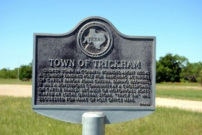 Town of Trickham Marker image. Click for full size.