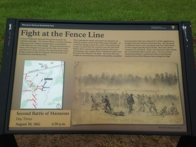 Fight at the Fence Line Marker image. Click for full size.