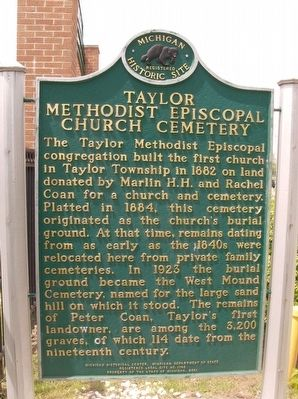 Taylor Methodist Episcopal Church Cemetery Marker image. Click for full size.