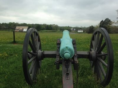 "View of the ""Twilight Clash"" Marker from an Artillery Piece image. Click for full size."