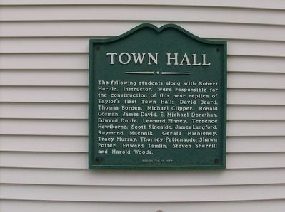 Town Hall Marker 2 image. Click for full size.