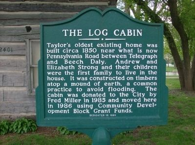 The Log Cabin Marker image. Click for full size.