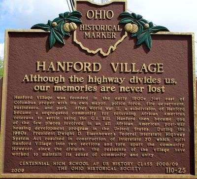 Hanford Village Marker image. Click for full size.