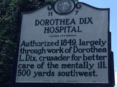 Dorothea Dix Hospital Marker image. Click for full size.