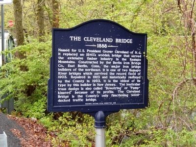 The Cleveland Bridge Marker image. Click for full size.