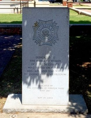 Coweta County VFW Memorial Marker image. Click for full size.