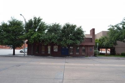 Site of Abilene's First School image. Click for full size.