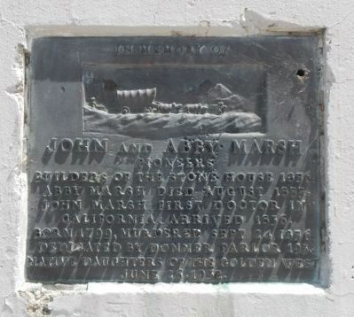 John and Abby Marsh Marker image. Click for full size.