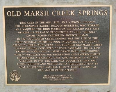 Old Marsh Creek Springs Marker image. Click for full size.