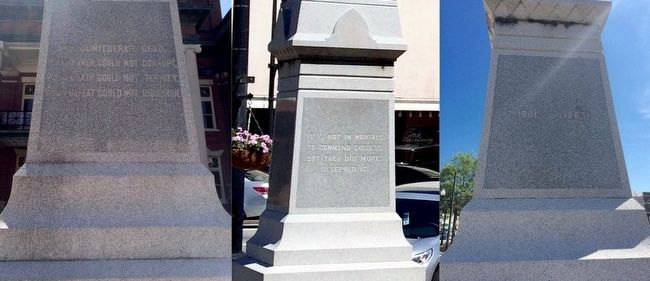 Front, rear and right side text of monument. image. Click for full size.