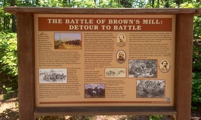 The Battle of Brown's Mill: Detour to Battle Marker image. Click for full size.