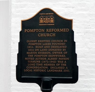 Pompton Reformed Church Marker image. Click for full size.