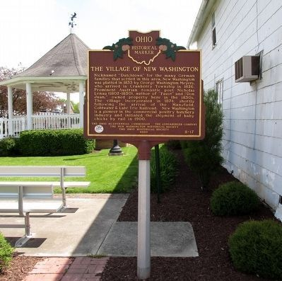 The Village of New Washington Marker image. Click for full size.