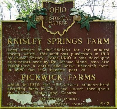 Knisley Springs Farm Marker image. Click for full size.