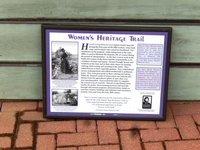 Howell Living History Farm Marker image. Click for full size.