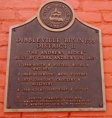 Dibbleville Business District II Marker image. Click for full size.