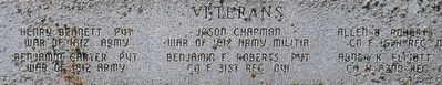 Cheney Cemetery Veterans Memorial Marker image. Click for full size.