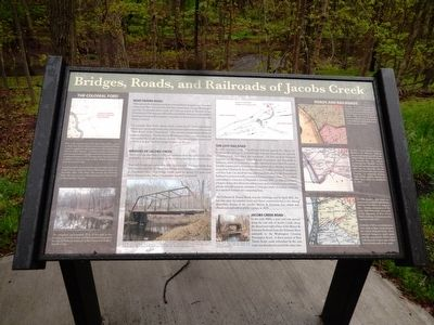 Bridges, Roads, and Railroads of Jacobs Creek Marker image. Click for full size.