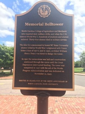 Memorial Belltower Marker image. Click for full size.