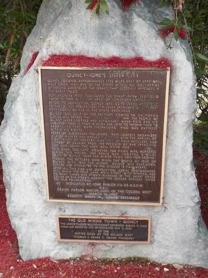 Quincy - Ione's Sister City Marker image. Click for full size.