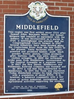 Middlefield Marker image. Click for full size.