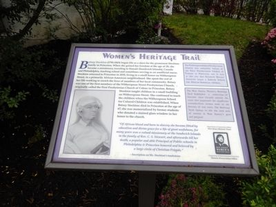 Betsey Stockton Marker image. Click for full size.