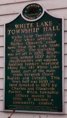 White Lake Township Hall Marker image. Click for full size.