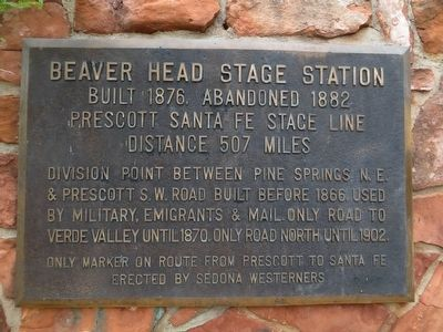 Beaver Head Stage Station Marker image. Click for full size.