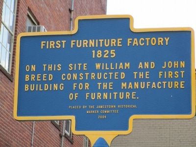 First Furniture Factory Marker image. Click for full size.