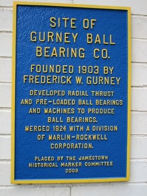 Site of Gurney Ball Bearing Co. Marker image. Click for full size.