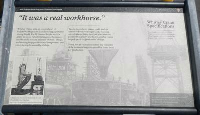 "<i>""It was a real workhorse.""</i> -- Jim Cannon, Marketing Dir., Levin-Richmond Terminal Corp Marker image. Click for full size."