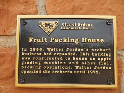 Fruit Packing House Marker image. Click for full size.