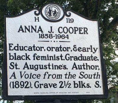 Anna J. Cooper Marker image. Click for full size.