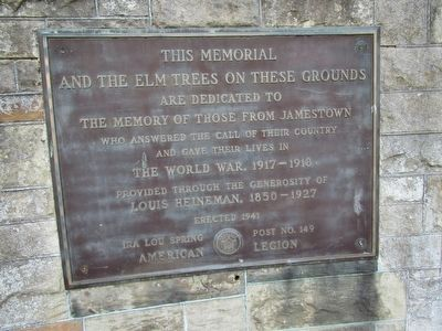 Jamestown WWI Memorial image. Click for full size.