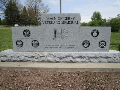 Town of Gerry Veterans Memorial image. Click for full size.