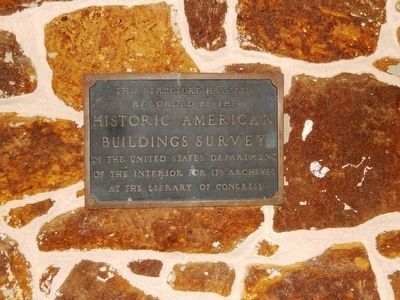 Gabreil Daveis Tavern-Plaque as Historic American Buildings Survey image. Click for full size.