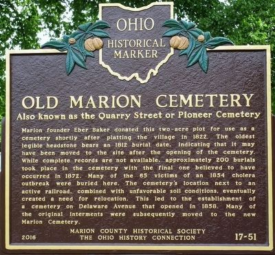 Old Marion Cemetery Marker image. Click for full size.
