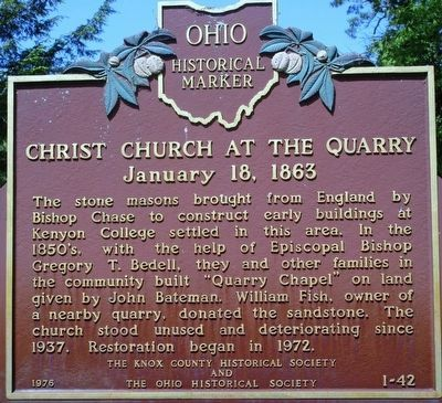 Christ Church at the Quarry Marker image. Click for full size.