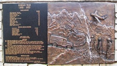 Korean War Marker and Relief image. Click for full size.