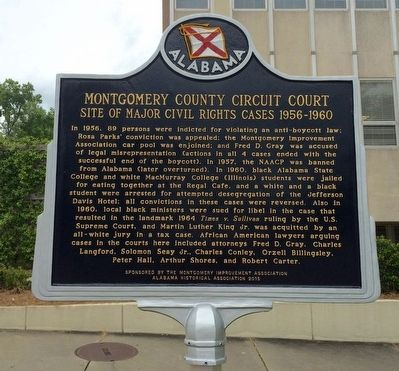 Montgomery County Circuit Court Marker image. Click for full size.