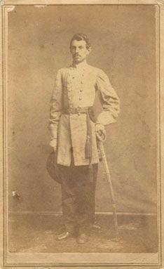 Governor Jones in his Confederate Army uniform image. Click for full size.