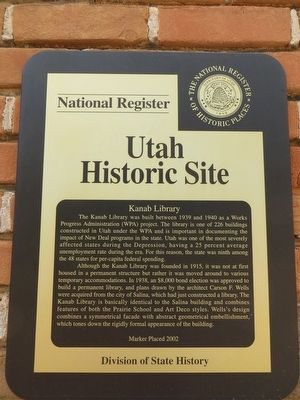 Kanab Library Marker image. Click for full size.