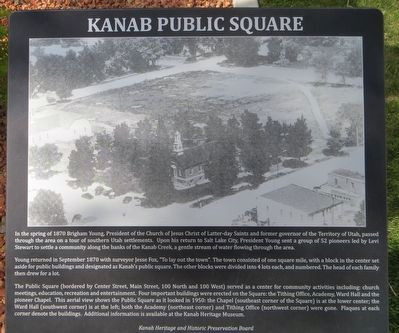Kanab Public Square Marker image. Click for full size.