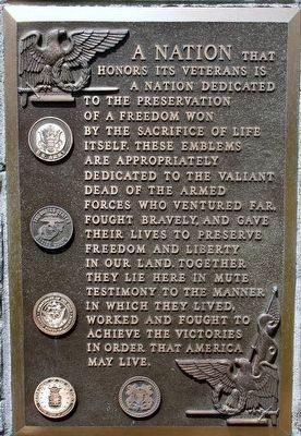 Mount Vernon Veterans Memorial Marker image. Click for full size.